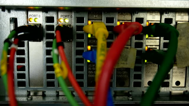 LAN Cable connection Close-up video