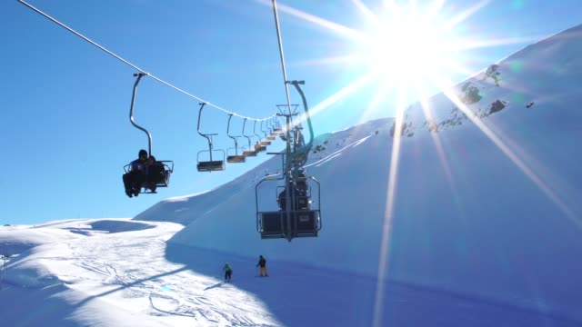 Cableway Ski Lifts in Farellones Winter Mountain Ski Resort in Chile Cableway Ski Lifts in Farellones Winter Mountain Ski Resort in Chile cable car stock videos & royalty-free footage
