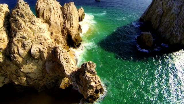 Cabo Arch Aerial Straight Down Overhead View video