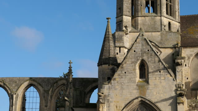Caen, Calvados department, Normandy, France Church Saint Etienne Le Vieux bombed during the world war II. caen stock videos & royalty-free footage