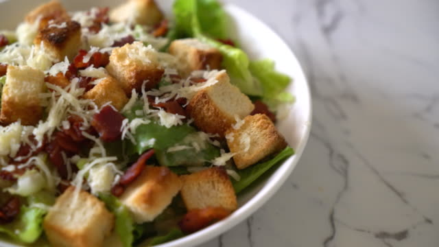 caesar salad - thai food stock videos and b-roll footage