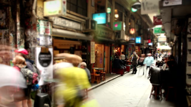 Cafe Laneway in Melbourne, Australia video