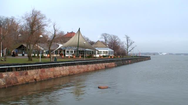 Cafeteria on sea shore (HD 1080/60i) video