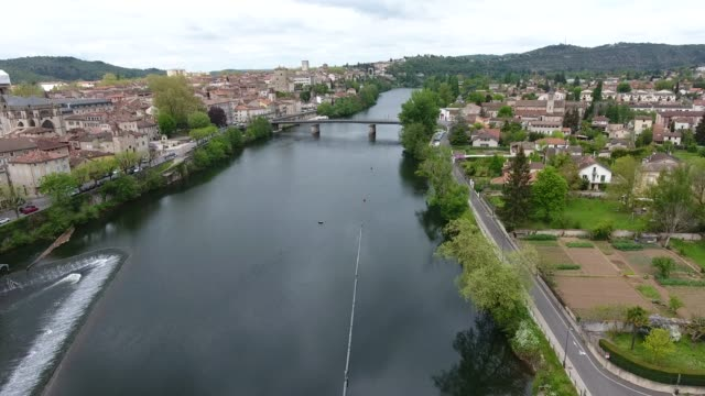 Cahors town and cathedral, southern France video