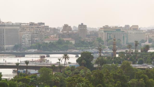 Cairo bridges traffic timelapse video
