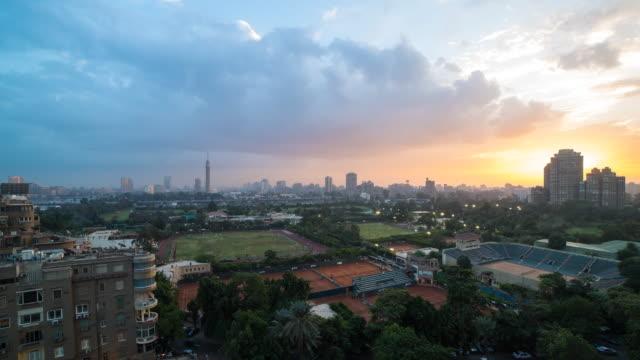 Cairo sunset timelapse video