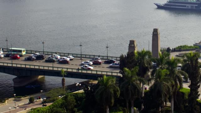 Cairo Time lapse across Qasr al-Nil Bridge video