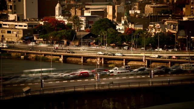 Cairo traffic daytime video