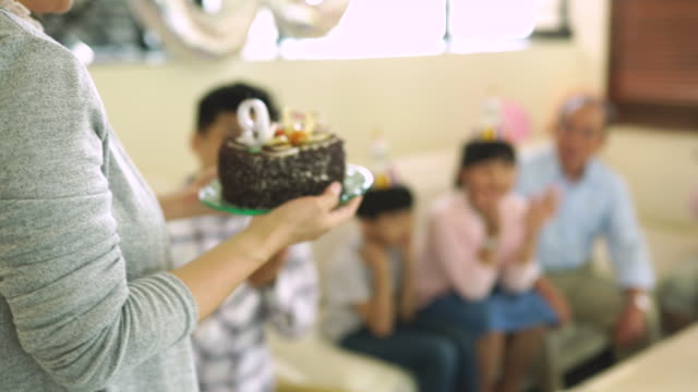 cake for a birthday girl - reunion stock videos & royalty-free footage