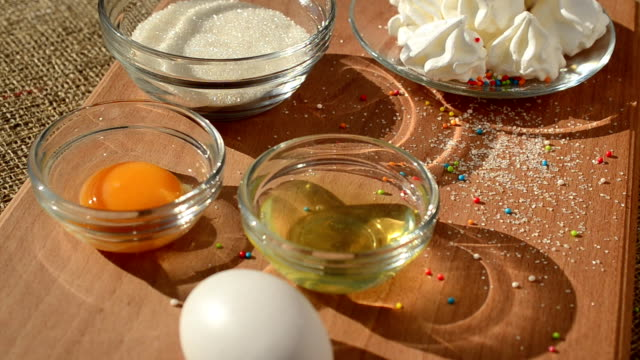 cake of meringue and components. - theobroma video stock e b–roll