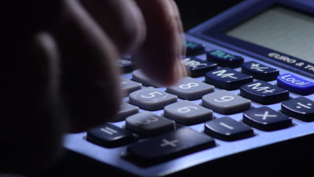 Calculating Costs with a domestic calculator