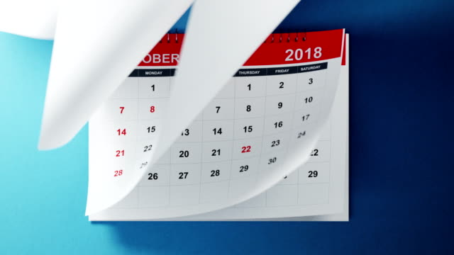 vídeos de stock e filmes b-roll de calendar 2019 animation in 4 k resolution - mês