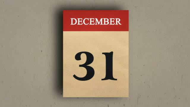 Calendar Animation, December, New Year calendar.