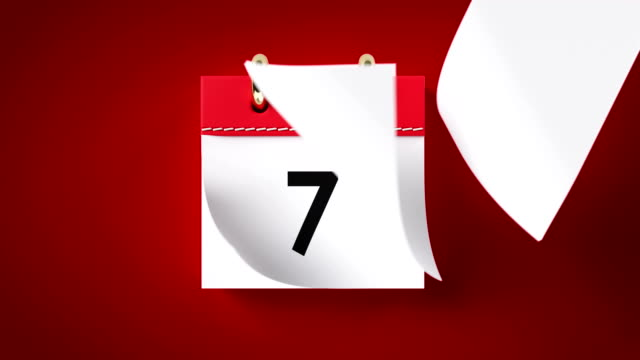 Calendar Animation In 4k Resolution Pages of a red calendar are flying away on red background in 4k resolution. Directly above.. New year and time concept. calendar stock videos & royalty-free footage
