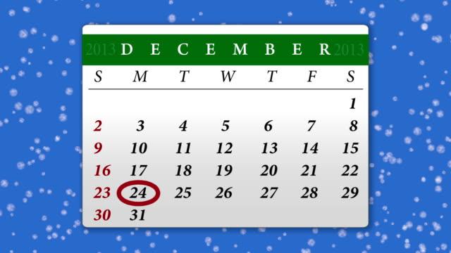 カレンダー 2013 年 12 月のクロマキー - 十二月点の映像素材/bロール