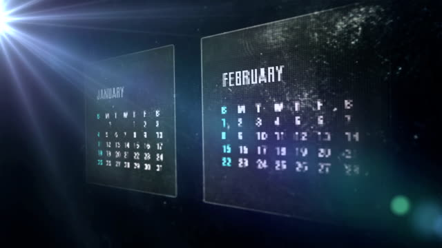 stockvideo's en b-roll-footage met calendar digital - calendar