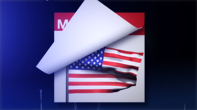Calendar Flip to Memorial Day  memorial day stock videos & royalty-free footage