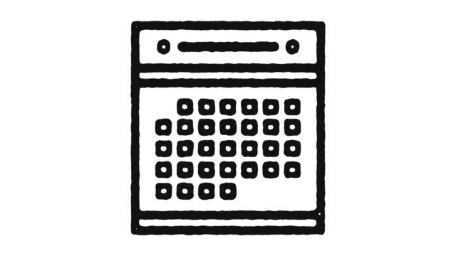 kalender-symbol animation footage & alpha-kanal - kalender icon stock-videos und b-roll-filmmaterial
