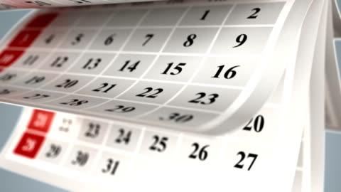kalender sidor bakgrund - dag bildbanksvideor och videomaterial från bakom kulisserna