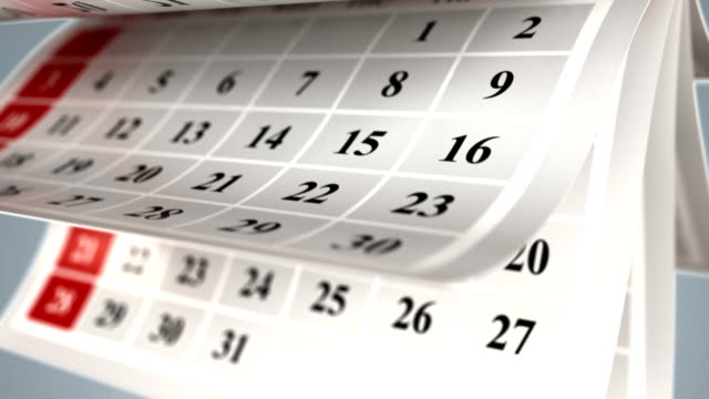 sfondo pagine calendario - data video stock e b–roll