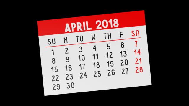 vidéos et rushes de calendrier 2018 - pages - 2018