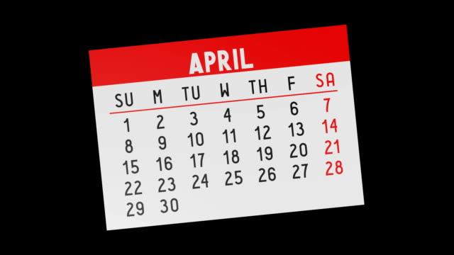 vídeos de stock e filmes b-roll de calendar - pages - setembro