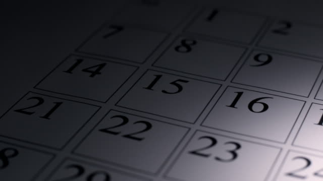 stockvideo's en b-roll-footage met calendar - calendar