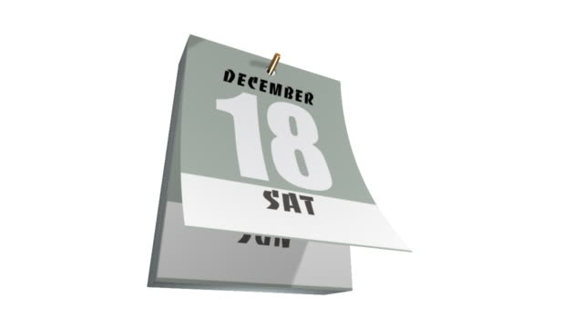 カレンダー - 十二月点の映像素材/bロール