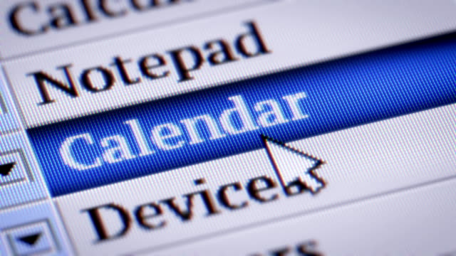 vidéos et rushes de calendrier - agenda