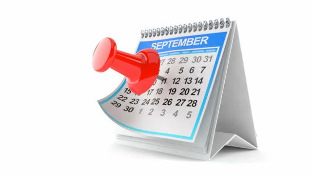 Calendar with thumbtack video