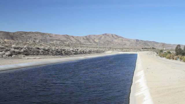 California Aqueduct Palmdale Shot in Palmdale, California in July of 2013. aqueduct stock videos & royalty-free footage
