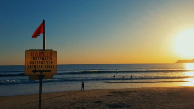California beach sunset video