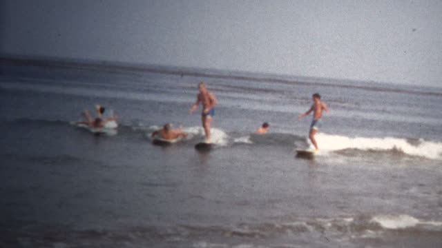 (8mm Vintage) 1968 California Beach Surfing