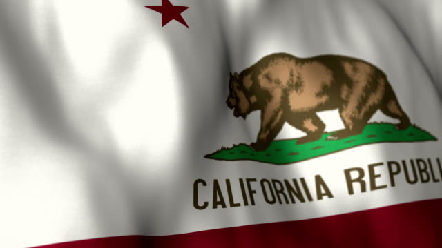 California Flag High Detail - Looping video