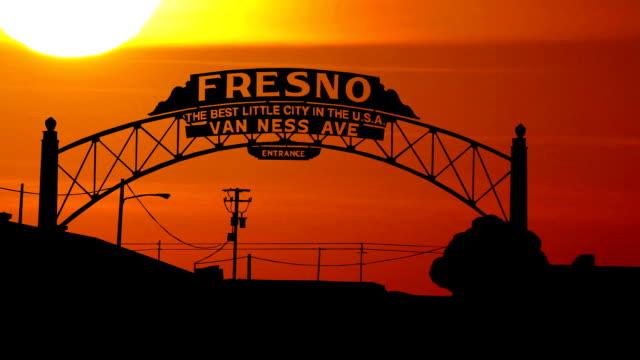 California Fresno sunset video