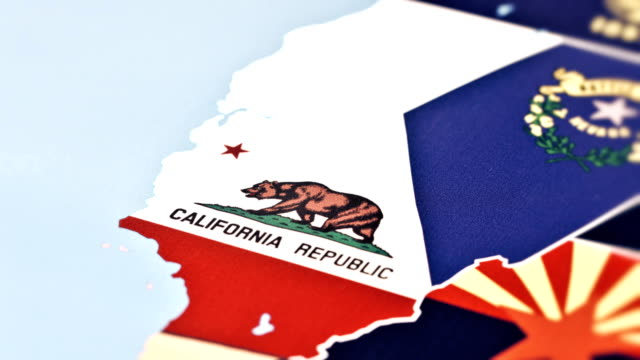 California from USA States tracking to California from USA States california map stock videos & royalty-free footage