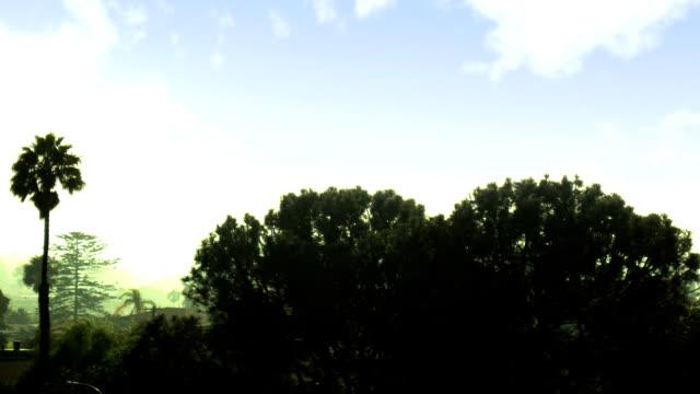 California landscape sunrise time-lapse video