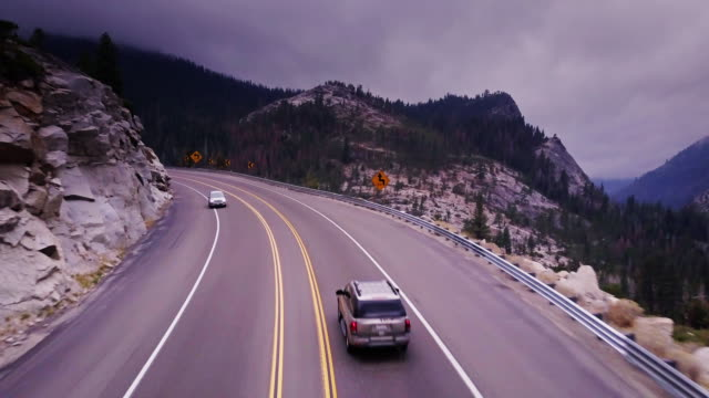California Mountain Highway - Aerial View video
