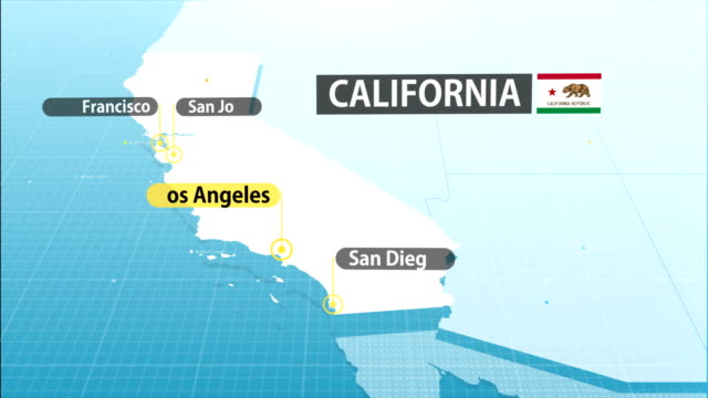 California State map map with label then with out label california map stock videos & royalty-free footage