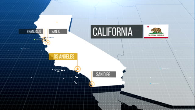 California state map with label then with out label state map with label then with out label california map stock videos & royalty-free footage