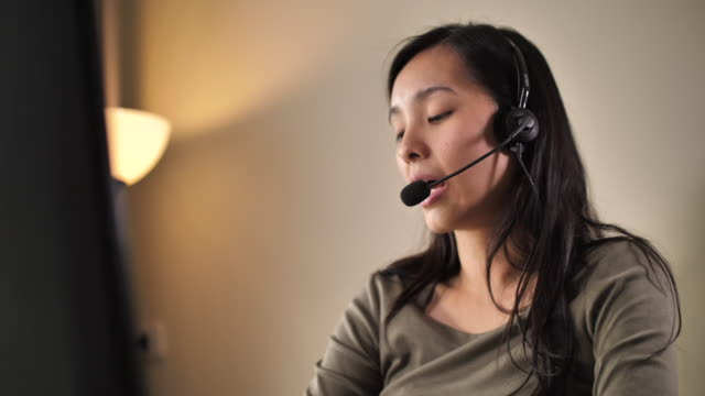Call center at home USA, 4K Resolution, Administrator, Adult, Adults Only call centre videos stock videos & royalty-free footage