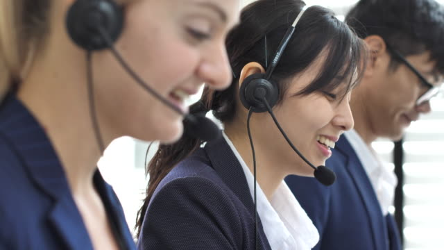 Call center team working in Office
