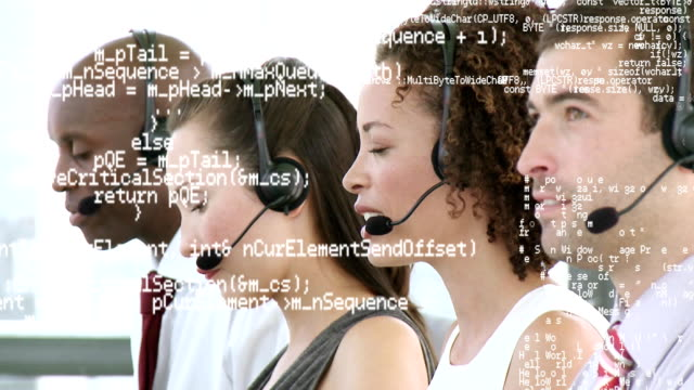 Call centre agents and interface codes