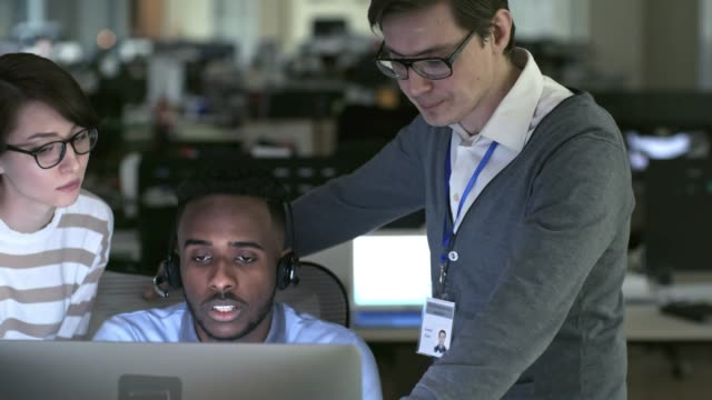 Call Centre Agents Discussing Work