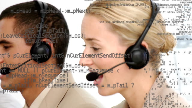 Call centre agents with interface codes