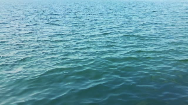 sakin mavi okyanus yüzey 4k - göl stok videoları ve detay görüntü çekimi
