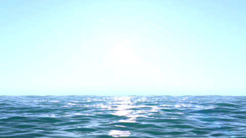 spokojny oceanu niebieski rano - horyzont wodny filmów i materiałów b-roll