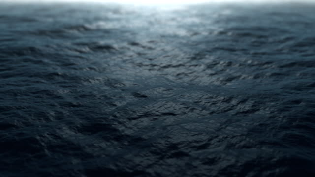 Calm Ocean Waves. Seamless loop video