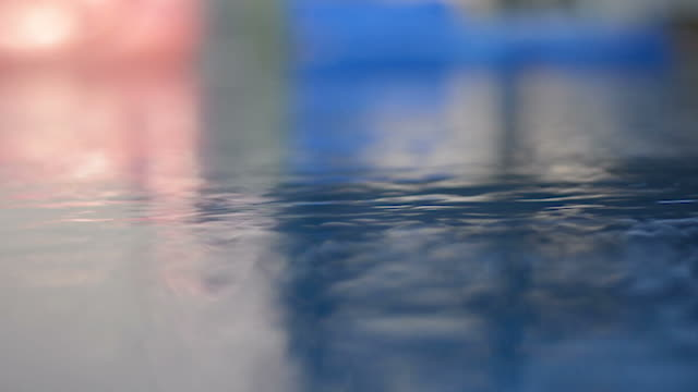 Calm Pool Surface Calm Pool Surface double refraction stock videos & royalty-free footage