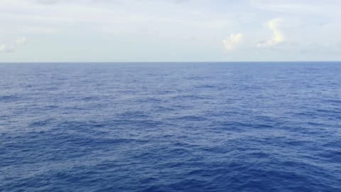 calm sea, endless deep blue ocean and the horizon Wide Open Horizon Beyond Blue Seascape in Pacific horizon stock videos & royalty-free footage